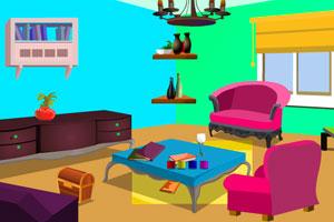 《优雅的客厅逃脱》游戏画面1