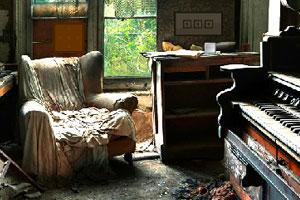 《逃出破落的钢琴老宅》游戏画面1