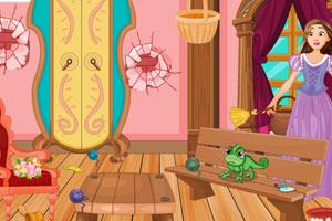 《长发公主房间清洁》游戏画面1