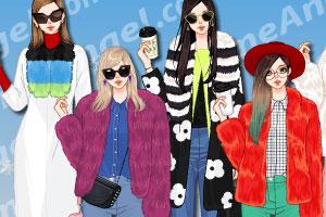 《时尚毛呢外套》游戏画面1