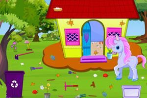 《小马驹整理屋子》游戏画面1