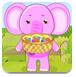 照顾粉色的小象