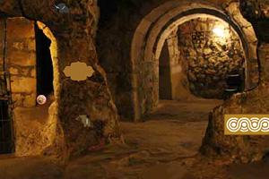 《神秘岩石洞穴逃脱》游戏画面1