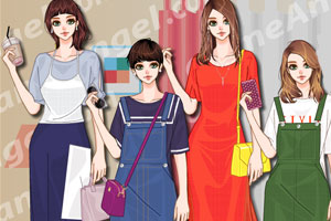 《韩版时尚长裙》游戏画面1