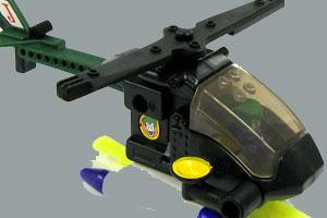 《乐高直升机拼图》游戏画面1