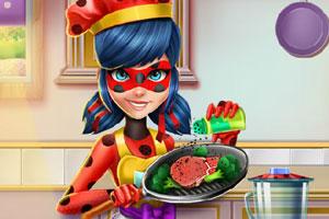 瓢虫女孩做饭