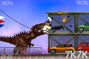 《霸王龙大战食人鲨无敌版》游戏画面3