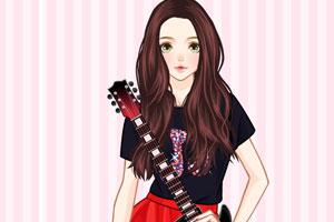 《帅气吉他女孩》游戏画面1