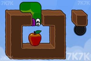 《貪吃的蘋果蟲》游戲畫面2