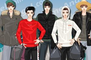 《韩国男子时尚帽T》游戏画面1