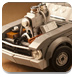 樂高玩具賽車拼圖
