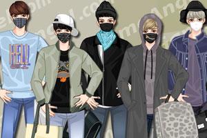 韩国男子时尚口罩装