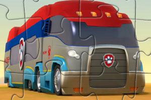 《狗狗卡车拼图》游戏画面1