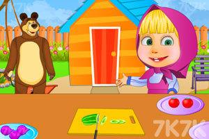 《玛莎制作沙拉》游戏画面2