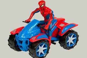 《蜘蛛侠骑越野车》游戏画面1