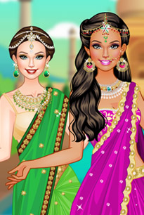 美女的印度风