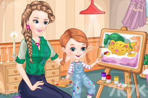 《母女的画画时光》游戏画面2