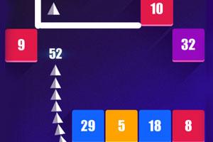 《银色三角蛇击砖块》游戏画面1