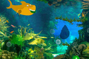 《奇异水下世界逃脱》游戏画面1