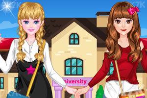《姐妹一起回学校》游戏画面1