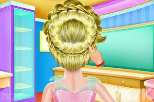 《女孩编织发型》游戏画面4