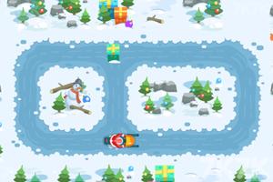 《圣诞爷爷滑雪橇选关版》游戏画面3