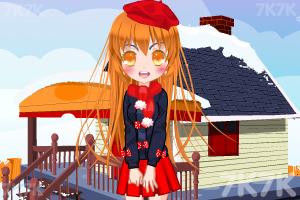 《小萝莉的雪景照》游戏画面1