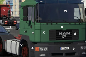 《寻找卡车隐藏字母》游戏画面1