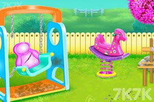 《儿童公园花园清洁》游戏画面3