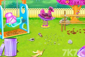 《儿童公园花园清洁》游戏画面2