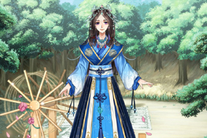 《手绘古风美少女》游戏画面1