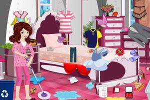 《可爱公主卧室清洁》游戏画面1