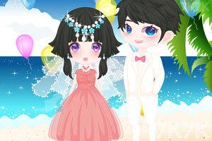 《海滩的浪漫婚礼》游戏画面1