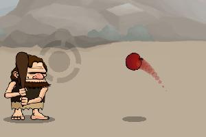 《原始人打棒球》游戏画面1