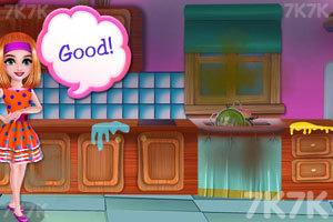 《清洁粉红房子》游戏画面3