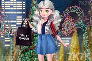 《漂亮女孩圣诞购物》游戏画面1