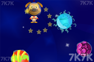 《太空小狗采星星》游戏画面1