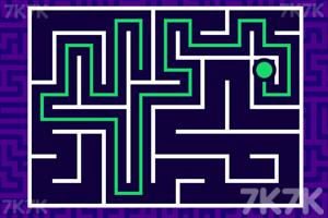 《绿球过迷宫》游戏画面1