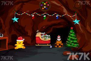 《圣诞老人洞穴逃脱》游戏画面2