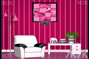 《逃离粉色调房子》游戏画面2