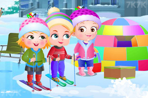 《可爱宝贝冬日乐趣》游戏画面2
