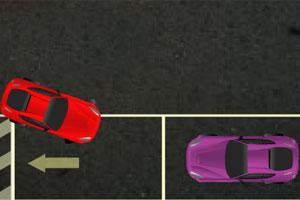 红色跑车停车