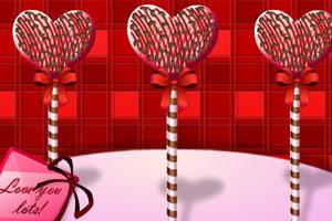 情人节棒棒糖蛋糕