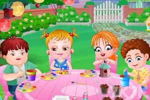 可爱宝贝的花园聚会