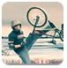 冬季特技自行车