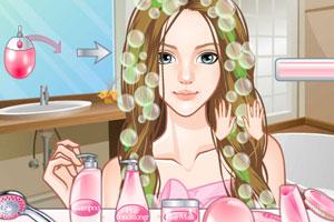 美女换发型