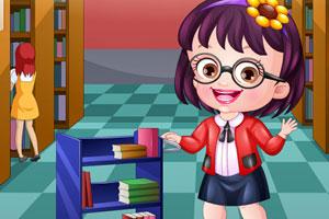 可爱宝贝当图书员