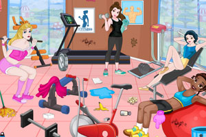 公主健身房的清洁
