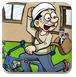 送信员自行车停车