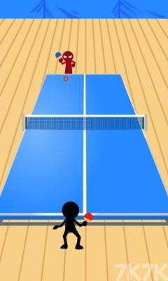 《火柴人乒乓球》游戏画面1
